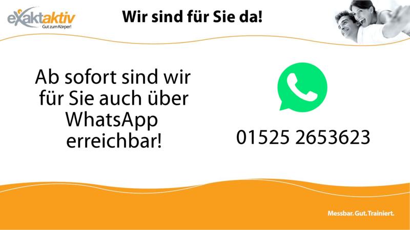 Jetzt auch über WhatsApp erreichbar!